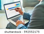 man using program for fatca ... | Shutterstock . vector #592552175