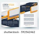 abstract vector modern flyers... | Shutterstock .eps vector #592562462