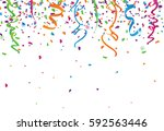 confetti abstract background... | Shutterstock .eps vector #592563446