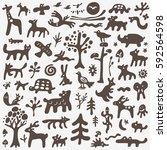 animals doodles | Shutterstock .eps vector #592564598