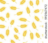 vector seamless wheat or rye... | Shutterstock .eps vector #592567472