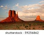 Massive Sandstone Pillars Soar...