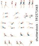 gymnastics poses stocks | Shutterstock .eps vector #592571465