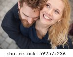 loving couple laughing | Shutterstock . vector #592575236