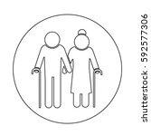 elder people icon | Shutterstock .eps vector #592577306