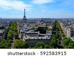 view of paris from the top of... | Shutterstock . vector #592583915