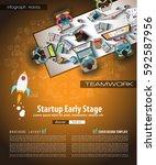 infograph brochure template... | Shutterstock .eps vector #592587956