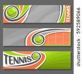 vector horizontal banners for... | Shutterstock .eps vector #592589066