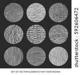 collection of textures  brushes ... | Shutterstock .eps vector #592606472