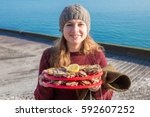 Girl With Oysters In Cancale ...