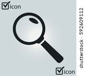 icon of loupe. search button....