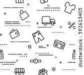 Seamless Pattern With Shopping...