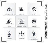 performance icon set | Shutterstock .eps vector #592613468