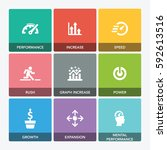 performance icon set | Shutterstock .eps vector #592613516