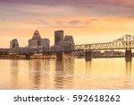 view of  skyline downtown... | Shutterstock . vector #592618262