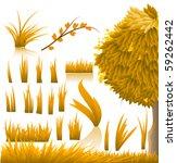 vector nature elements | Shutterstock .eps vector #59262442