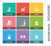 wealth management icon set | Shutterstock .eps vector #592634582