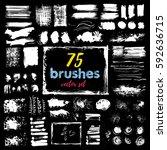 hand draw sketch paintbrush set.... | Shutterstock .eps vector #592636715