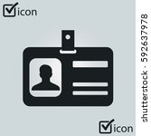 identification card icon.... | Shutterstock .eps vector #592637978