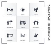 learn and lead icon set | Shutterstock .eps vector #592639592