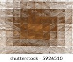 Abstract cubist fine art rendition design illustration poster template - stock photo