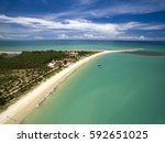 aerial view green sea at a... | Shutterstock . vector #592651025
