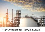 petrochemical plant   oil... | Shutterstock . vector #592656536