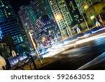 dubai street lights   Shutterstock . vector #592663052