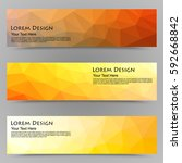 abstract colorful set of shiny...   Shutterstock .eps vector #592668842