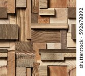 Seamless Texture Of Wooden...