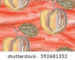 repeating pattern with rough... | Shutterstock .eps vector #592681352
