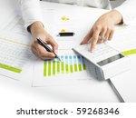 market analyze   pen and... | Shutterstock . vector #59268346