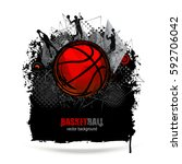 web design for basketball.... | Shutterstock .eps vector #592706042