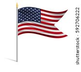 the national flag of usa on a... | Shutterstock .eps vector #592706222