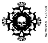 skull  vector  | Shutterstock .eps vector #5927080