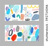 abstract creative header.... | Shutterstock .eps vector #592714346