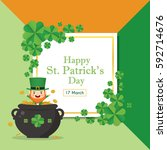 17 march  saint patrick's day... | Shutterstock .eps vector #592714676