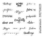 hand drawn quotes and... | Shutterstock .eps vector #592718225