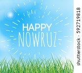 happy nowruz greeting card.... | Shutterstock .eps vector #592719818
