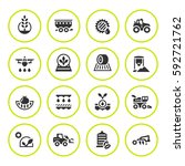 set round icons of agriculture | Shutterstock .eps vector #592721762