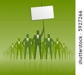 business men protesting. | Shutterstock .eps vector #5927266