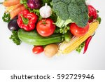 fresh vegetables | Shutterstock . vector #592729946