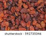 raisins as background grape... | Shutterstock . vector #592735346