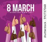 international womens day... | Shutterstock .eps vector #592737068