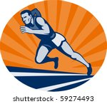 vector illustration marathon... | Shutterstock .eps vector #59274493