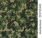 camouflage pattern background... | Shutterstock .eps vector #592745345
