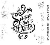 save the date  wedding... | Shutterstock .eps vector #592754405