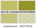 set of 4 abstract seamless... | Shutterstock .eps vector #592779476