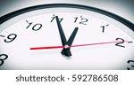 5 min before 12 o clock  | Shutterstock . vector #592786508