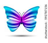abstract vector butterfly... | Shutterstock .eps vector #592787156